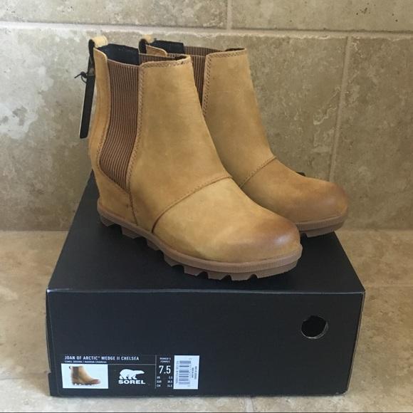 NIB SOREL Women/'s Joan of Arctic Wedge II Waterproof Boots in Elk